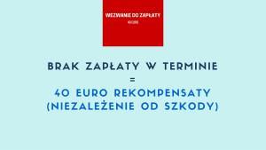 40 euro rekompensaty