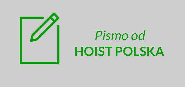 Pismo od HOIST Polska – czy jest się czego obawiać?